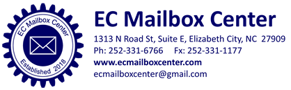EC Mailbox Center, Elizabeth City NC